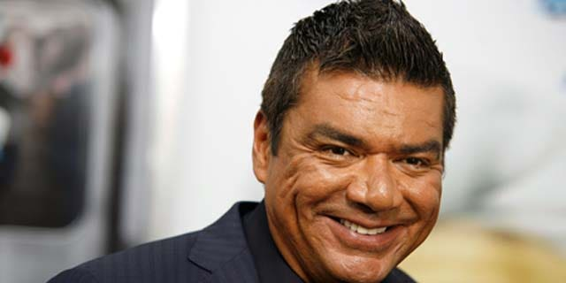 July 24, 2011: George Lopez attends the premiere of 'The Smurfs' at the Ziegfeld Theater in New York City.