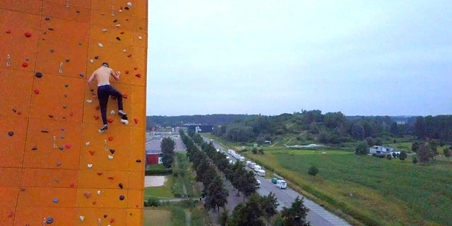 George King had wanted to climb Excalibur at the Bjoeks Climb Center in Groningen, Netherlands since he was 10.