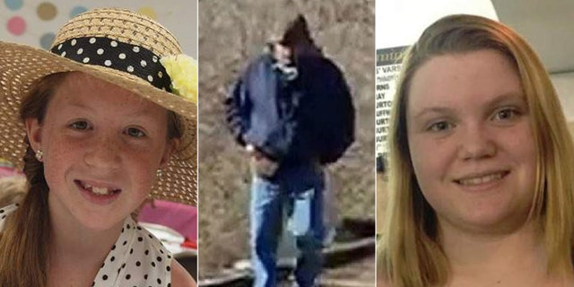 On February 13, 2017, Abigail Williams, 13, and Liberty German, 14, disappeared after being dropped off at the Delphi Historic Trails. The image of the unidentified man (center) was taken from one of the girls' cellphones on the same day they vanished.