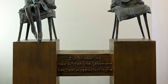 A bronze statue  by artist Bonifatius Stirnberg is on display  in Stolberg, Germany symbolizing a child born without limbs because of thalidomide.