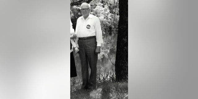 May 22, 1990 - FILE photo shows Michael Karkoc in Lauderdale, Minn. prior to a visit to Minnesota from Soviet President Mikhail Gorbachev in early June of 1990. The AP has uncovered testimony that says Karkoc, a Minnesota man who was a Nazi SS-led company commander, ordered his men to attack a village that was razed to the ground in 1944, contradicting claims by the man's family that he was never at the scene of the civilian massacre.