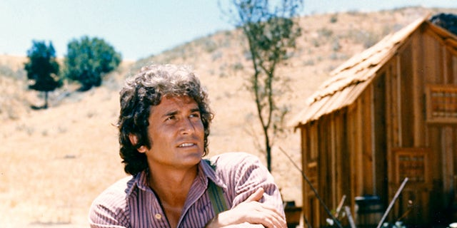 Michael Landon (1936-1991) in a portrait issued as publicity for the television series, 'Little House on the Prairie', circa 1974. The drama, adapted from the novels by Laura Ingalls Wilder (1867-1957), starred Landon as 'Charles Ingalls'.