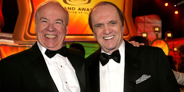 Tim Conway (left) with Bob Newhart in 2005.