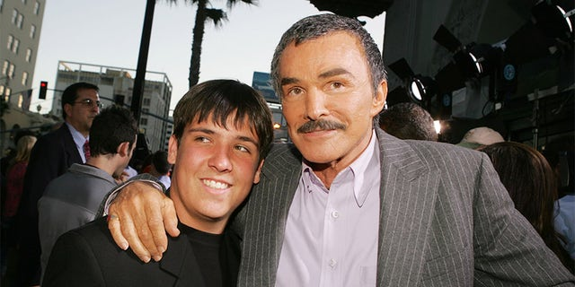 Reynolds pictured with his son Quinton in 2005.