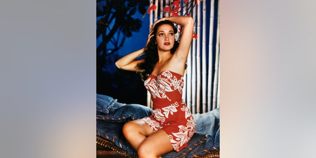 Dorothy Lamour became one of the most popular pinups during World War II.