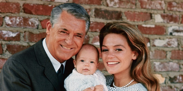 Cary Grant and his then-wife Dyan Cannon with their daughter, Jennifer Grant.