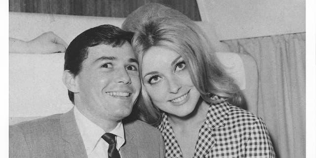 Jay Sebring and Sharon Tate.