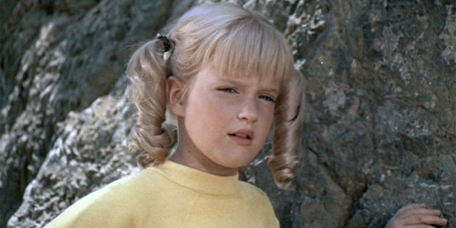 "Susan Olsen as Cindy Brady in ""The Brady Bunch."""