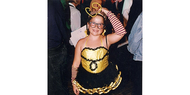 """Heather DeLoach, the 'Bumble Bee Girl' from Blind Melon's """"No Rain"""" video."""