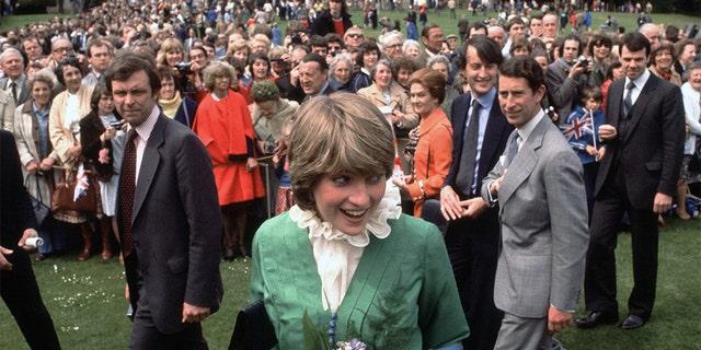 Princess Diana with Prince Charles.