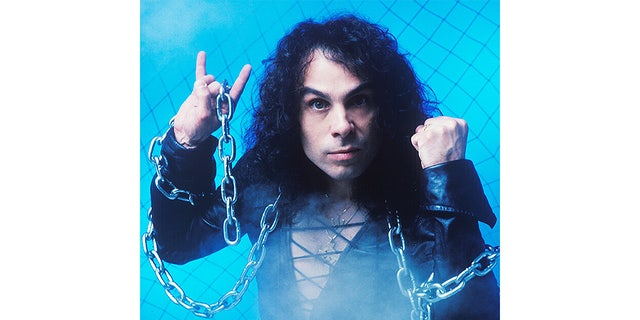 Ronnie James Dio and his signature horns.