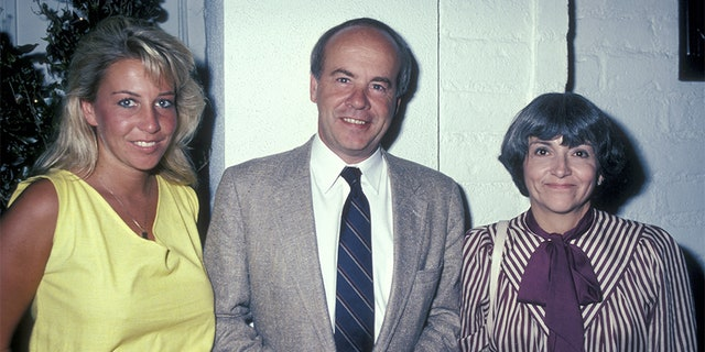 Actor Tim Conway, wife Charlene Fusco and daughter Kelly Conway being photoraphed on August 9, 1983 at Chasen's Restaurant in Beverly Hills, California.