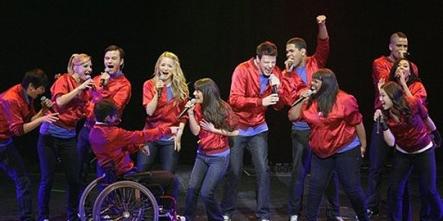 """May 15: The cast of the popular television show """"Glee"""" perform during a concert to kickoff a national tour at the Dodge Theatre in Phoenix."""