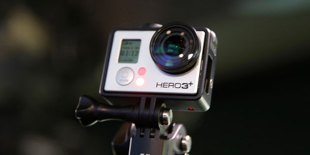 A GoPro Hero 3+ camera is seen at the Nasdaq Market Site before before GoPro Inc's IPO in New York City, June 26, 2014.