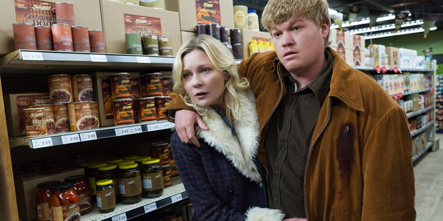 Kirsten Dunst (left) and Jesse Plemons in 'Fargo.' They met while filming the show before their romance blossomed.