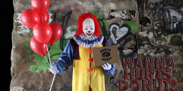 """Some Texas locations of Hurts Donut revealed on Facebook that they're giving customers the opportunity to send """"scary clown deliveries."""""""