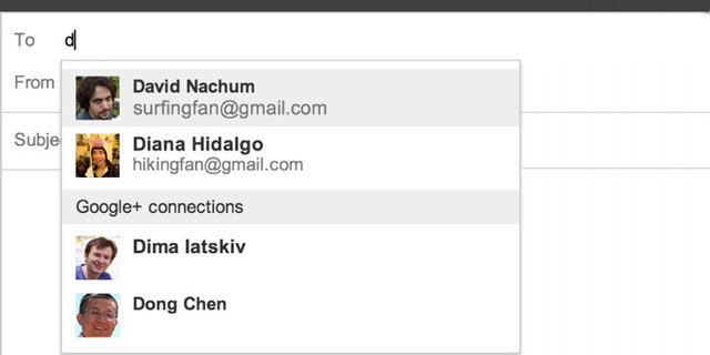 A new feature on Gmail allows people to email their Google+ contacts, even if they don't have an email address.