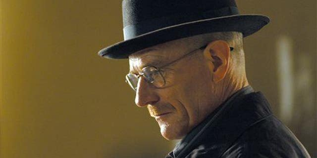 """This image released by AMC shows Walter White, played by Bryan Cranston, in a scene from the second season of """"Breaking Bad."""""""