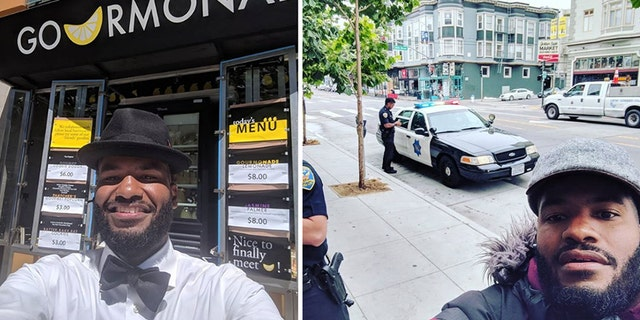 Viktor Stevenson, owner of Gourmonade, said four San Francisco police officers approached him outside of his store and accused him of breaking in.