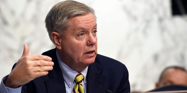FILE: Jan. 28, 2015: Sen. Lindsey Graham, R-S.C., speaks on Capitol Hill in Washington, D.C.