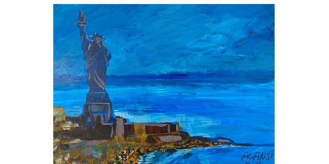 Statue of Liberty, by former Gitmo prisoner Muhammad Ansi.