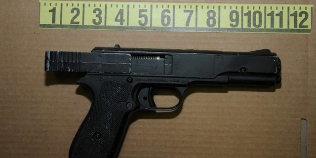 NEWTOWN, CT - UNSPECIFED DATE: In this handout crime scene evidence photo provided by the Connecticut State Police, shows a firearm seized from the suspects house following the December 14, 2012 shooting rampage at Sandy Hook Elementary School, taken on an unspecified date in Newtown, Connecticut. A second report was released December 27, 2013 by Connecticut State Attorney Stephen Sedensky III gave more details of the the Newtown school shooting by Adam Lanza that left 20 children and six women educators dead inside Sandy Hook Elementary School after killing his mother at their home.  (Photo by Connecticut State Police via Getty Images)