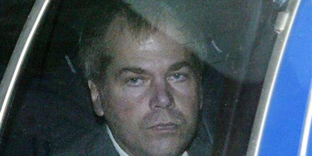 John Hinckley is seen arriving at court in 2003.