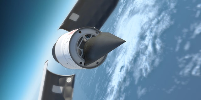 Rendering of the Falcon HTV-2 hypersonic aircraft.
