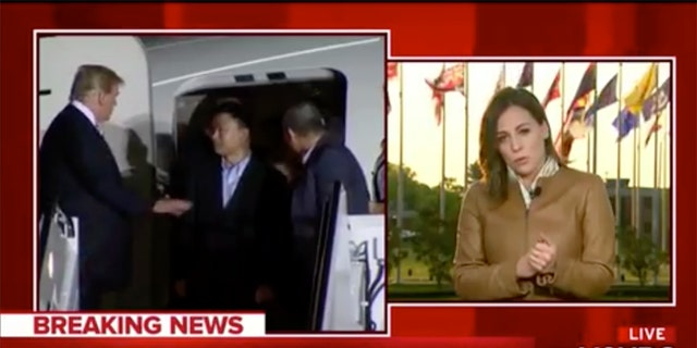 NBC News White House correspondent Hallie Jackson said that President Trump planned the event for television.