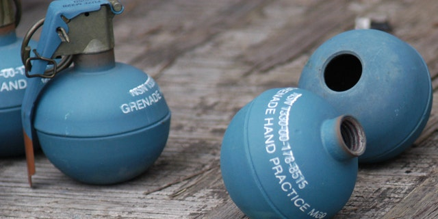 Take ordinary grenades like these, fill them with dust from the hottest chili peppers on earth, and you've got a blinding and sickening weapon.