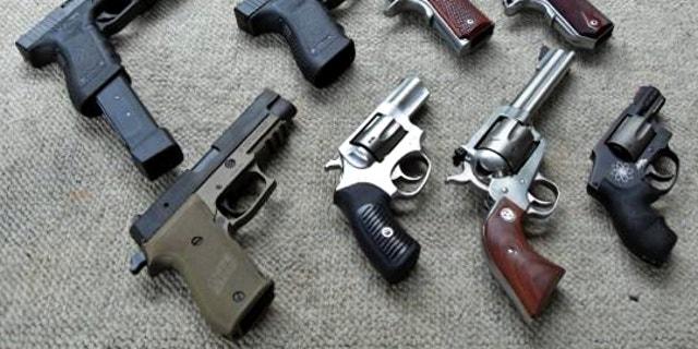 Semiautomatic handguns and revolvers