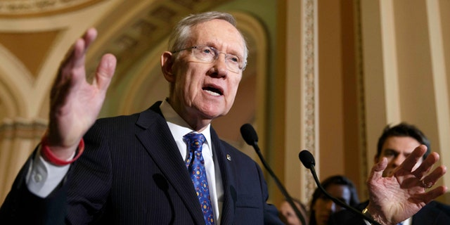 June 3, 2014: This file photo shows  Senate Majority Leader Harry Reid of Nev., as he speaks to reporters on Capitol Hill in Washington. (AP)