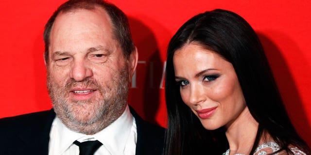 Harvey Weinstein and fashion designer wife Georgina Chapman.