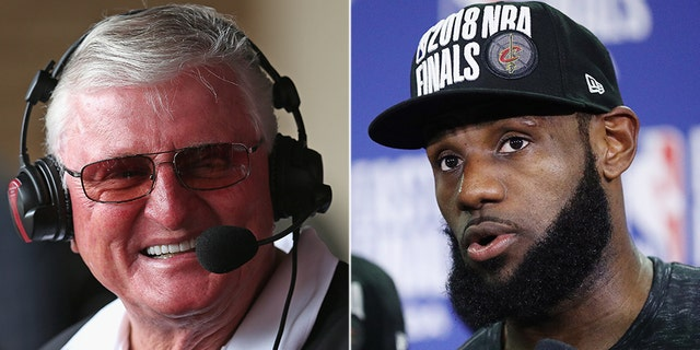 """Hawk"" Harrelson, left, had comments about LeBron James' political activism."