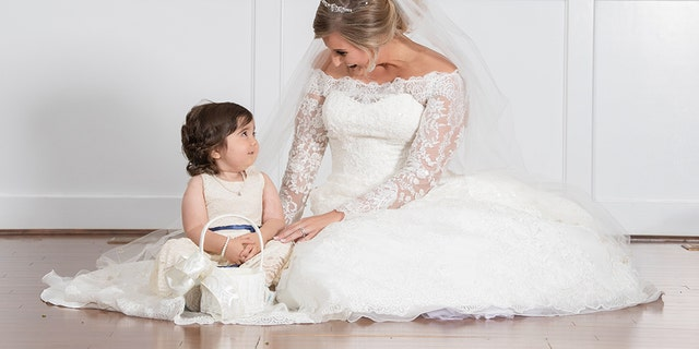 Though they had talked on the phone and via Facebook messenger, Syke and Hayden did not meet until the 3-year-old arrived at the wedding rehearsal.