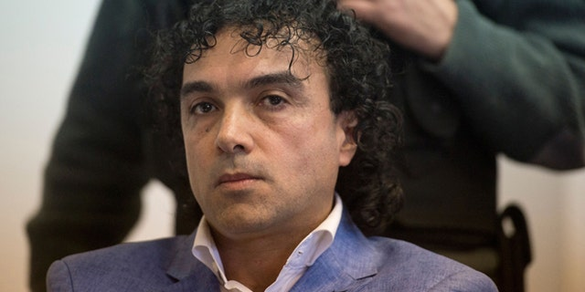 """Colombian drug trafficker Henry de Jesus Lopez Londono aka """"Mi Sangre"""" attends his extradition trial to the United States at court in Buenos Aires on May 17, 2016.  / AFP / EITAN ABRAMOVICH        (Photo credit should read EITAN ABRAMOVICH/AFP/Getty Images)"""