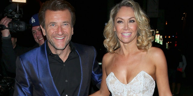 Robert Herjavec and Kym Johnson at the Dancing With the Stars after party, held at Beso in Hollywood. May 19, 2015.