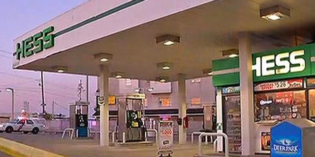 Police are searching for men who tied up a gas station clerk and then posed as employees, working the pumps and taking cash from unsuspecting customers.