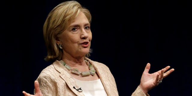 """Former Secretary of State Hillary Rodham Clinton speaks about her new book """"Hard Choices"""" on Friday, June 20, 2014, in Austin, Texas."""