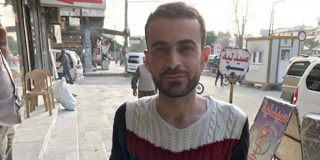"""""""We are so happy the U.S. troops are here. The most important thing is we know we won't be bombed when the US is here,"""" explained Khalid."""