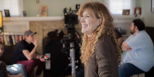 "Judy Norton filming her latest movie ""Inclusion Criteria."""