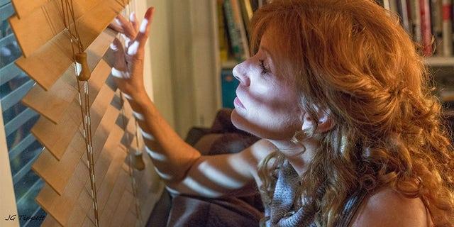 "Judy Norton filming ""Inclusion Criteria."""
