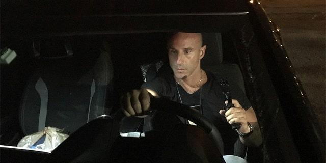 "Lillo Brancato filming a scene of ""The Fury."""