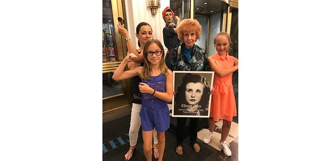 Elinor Otto with young girls today.
