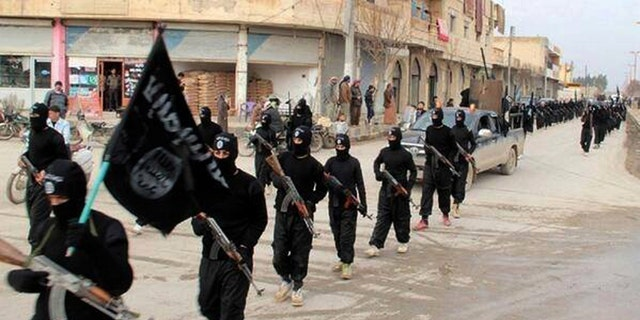 """ISIS in its former """"caliphate"""" capital of Raqqa, Syria"""