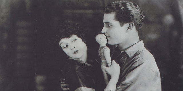 "Barbara as Jacqueline (with Ramon Novarro as Henri) in ""Trifling Women"" (formerly ""Black Orchids"")."