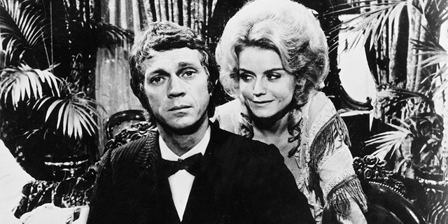 """Steve McQueen and Sharon Farrell in """"The Reivers,"""" October 1968."""