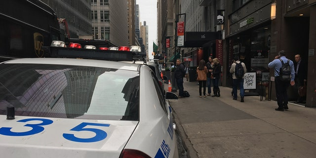 The incident occurred Friday at the Gotham Hotel located in Midtown Manhattan.