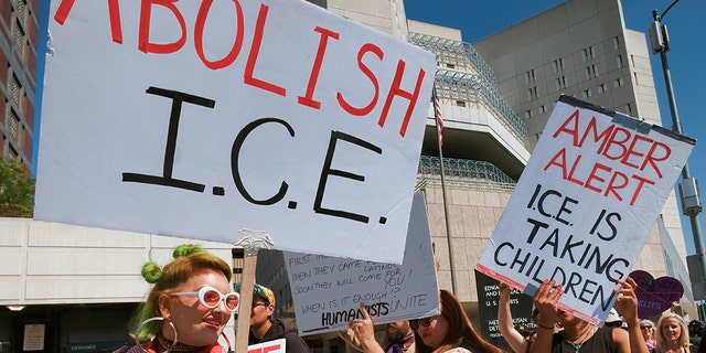 While a majority of Democrats view Immigration and Customs Enforcement negatively, Republicans largely have favorable views of ICE. A sizable chunk — a full one-third of Americans — are too unfamiliar with the agency to form an opinion, according to a new poll.