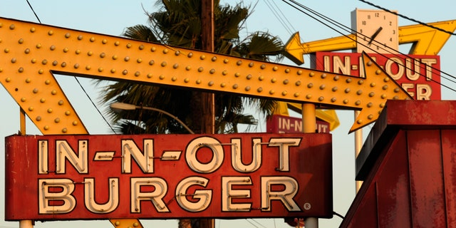"""In-N-Out says the Down N' Out restaurants are misleading customers into thinking In-N-Out gave its """"endorsement, approval, license, authority or sponsorship"""" to the Aussie chain."""